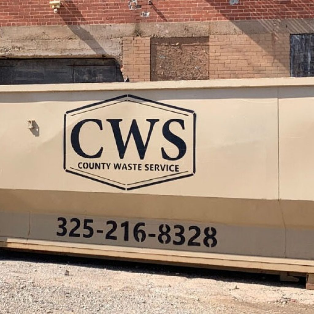 County Waste Service CWS rolloff box